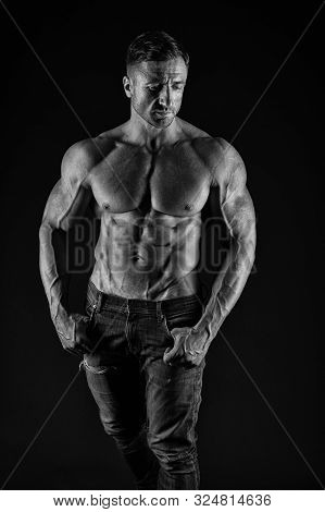 Bodybuilding Is About Building Your Body. Handsome Man Having Perfect Body For Bodybuilding. Fit Bod