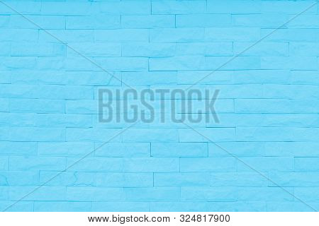 Abstract Pastel Blue and White brick wall texture background  wedding. Brickwork or stonework lovely flooring interior rock pattern clean concrete grid uneven bricks, design teen style. Black and white brick wall texture background / Wall texture backgrou poster
