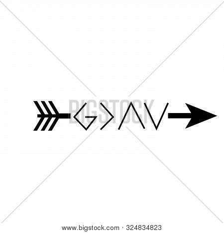 Christian Faith, God Is Greater Than The Highs And Lows, Typography For Print Or Use As Poster, Card