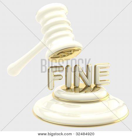 Penalty: gavel breaking word