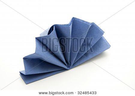 Blue fields Napkin folded