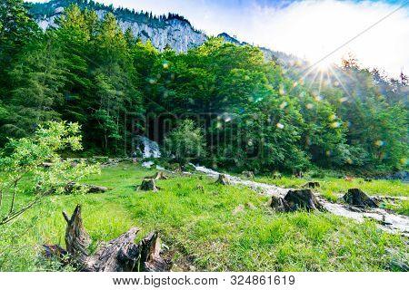 Lake Gosau (gosausee) In The Austrian Lake District