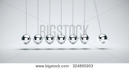 Newton's Cradle, Particularly Of The Spheres