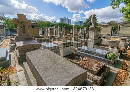 Montparnasse Cemetary In Paris, France