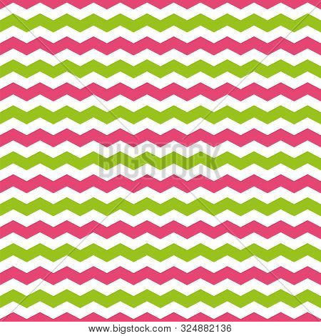 Seamless Pattern With Green And Pink Chevron Yellow And Pink Chevron Pattern