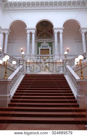 Leipzig, Germany - May 9, 2018: Main Hall Of University Library Albertina (bibliotheca Albertina) In