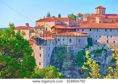 The Monastery of Great Meteoron in Meteora, Kalabaka, Greece