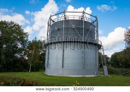Complete Renovated Gas Holder In The Village Dedemsvaart Province Overijssel, Was A Gas Storage In U