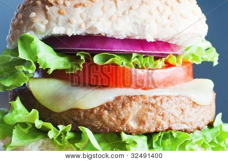 Vegetarian Cheeseburger