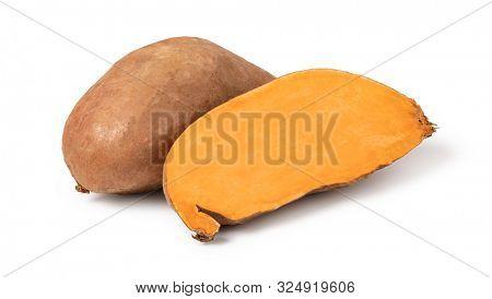 Sweet Potato isolated on white background