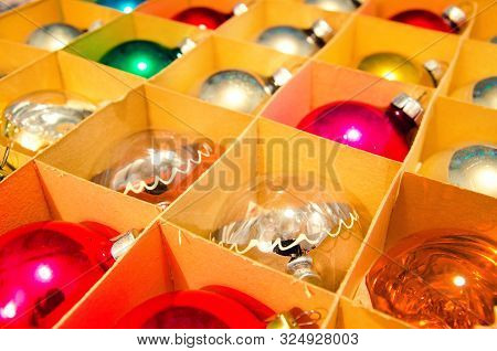 A Vintage Christmas Decorations In A Box