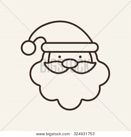Santa Line Icon. Winter, New Year, Holiday. Christmas Concept. Vector Illustration Can Be Used For T