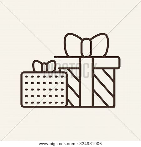 Christmas Gifts Line Icon. Winter, New Year, Holiday. Christmas Concept. Vector Illustration Can Be