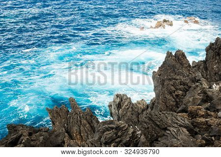Turquoise Water Near The Coast Of Madeira