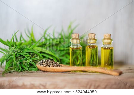Cannabis Cbd Oil Hemp Products, Cannabis Oil Extracts In Jars, Medical Marijuana, Legal Light Drugs