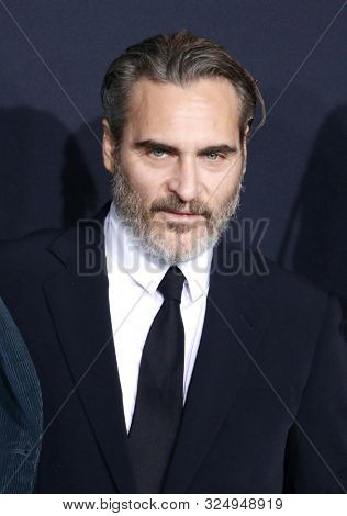 Joaquin Phoenix at the Los Angeles premiere of 'Joker' held at the TCL Chinese Theatre IMAX in Hollywood, USA on September 28, 2019.