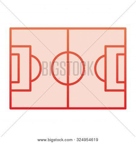 Football Field Flat Icon. Pitch Red Icons In Trendy Flat Style. Stadium Gradient Style Design, Desig