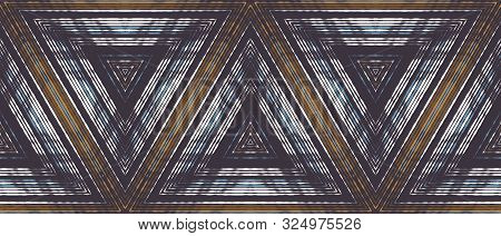 Optical Illusion Of Volume And Movement Of Geometric Shapes. Abstract Seamless Pattern.