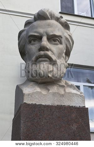Sevastopol, Crimea, Russia - July 24, 2019: Bust Of Miklouho-maclay In Front Of The Institute Of Bio