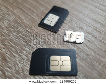 Sim Card Cellular. Sim Cards Close Up.
