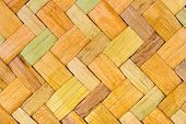 Wicker wood background abstract yellow geometric pattern poster