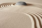 zen buddhism meditation and relaxation japanese garden concept for balance harmony and purity pebble and sand in pattern poster
