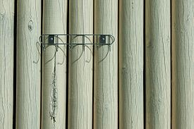 Wooden Painted White Paint Logs, Background, Texture
