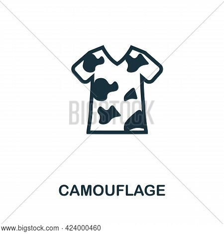 Camouflage Flat Icon. Colored Filled Simple Camouflage Icon For Templates, Web Design And Infographi