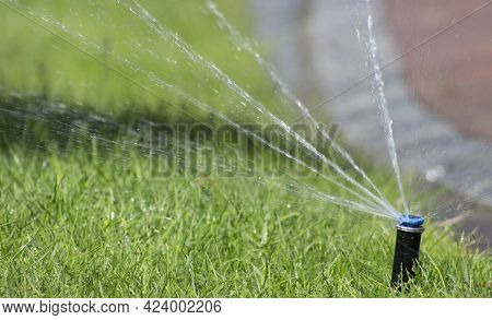 Automatic Lawn Watering System. Automatic Watering Sprinkler