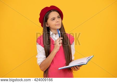Thinking Teenage Student Reader. Tween And Youth. Homework Education.