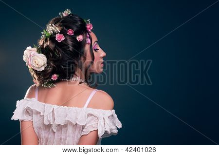 Young Girl With Creative Hairstyle
