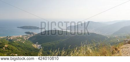 Panoramic Landscape Of Budva Riviera In Montenegro.