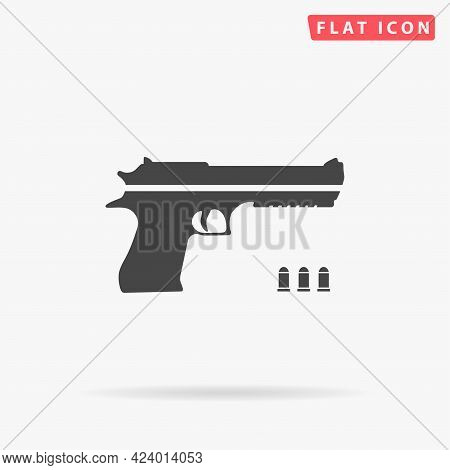 Guns And Weapons Flat Vector Icon. Hand Drawn Style Design Illustrations.