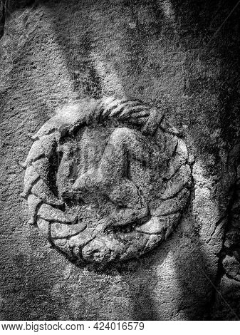 Byzantine Historical Artifact, Horse Figure Engraved On The Wall