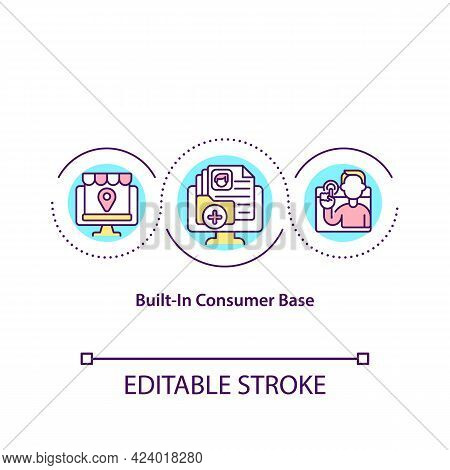 Built In Consumer Base Concept Icon. List Of Online Marketplace Users. Customers In Online Shop Abst