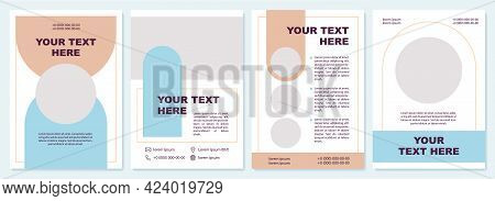Product Promotion Brochure Template. Business Needs. Flyer, Booklet, Leaflet Print, Cover Design Wit