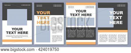 Eye-catching Brochure Template. University Advertising. Flyer, Booklet, Leaflet Print, Cover Design