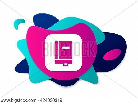 Color Law Book Icon Isolated On White Background. Legal Judge Book. Judgment Concept. Abstract Banne