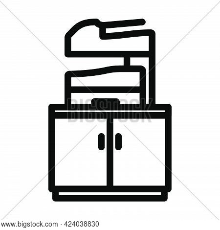 Copying Machine Icon. Bold Outline Design With Editable Stroke Width. Vector Illustration.