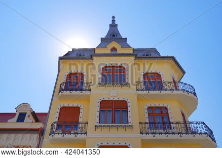 Old architectural detail in Oradea, Romania, Europe