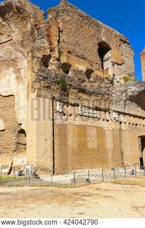 3rd Century Baths Of Caracalla (terme Di Caracalla), Ruins Of Ancient Roman Public Baths, Rome, Ital