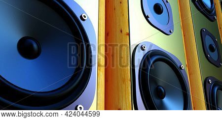 acoustic system, speakers technology background