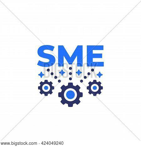 Sme, Small And Medium Enterprise Icon On White