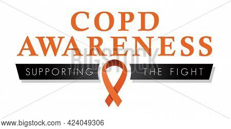 Copd Awareness Ribbon | Logo To Promote Chronic Obstructive Pulmonary Disease Awareness | Supporting