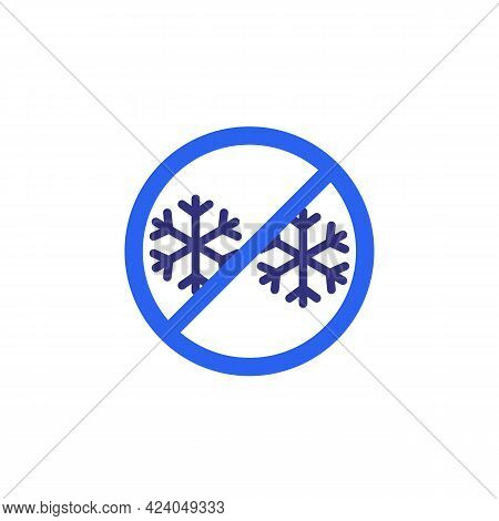 No Frost Icon, Ice Free Vector Sign