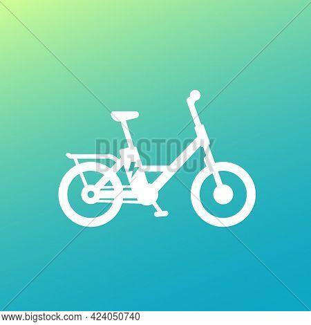 Electric Bike Icon, Electro Bicycle, Ebike Vector