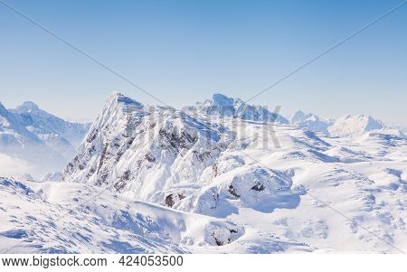 Untersberg Summit.  The View From The Summit Of Untersberg Mountain In Austria.  The Mountain Stradd