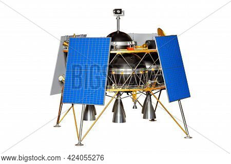 A Flying Lunar Lander For Exploration Of The Lunar Surface In Several Places During One Expedition.