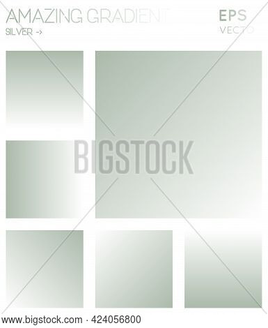 Colorful Gradients In Silver, White Color Tones. Actual Background, Valuable Vector Illustration.