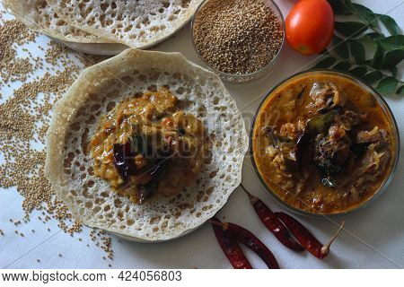 Kodo Millet Hoppers Prepared With A Batter Of Kodo Millet, Flattened Rice And Coconut Fermented With
